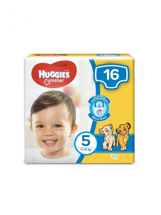 HUGGIES UNISTAR PANNOLINI TAGLIA 5 (11-25KG) 16PZ