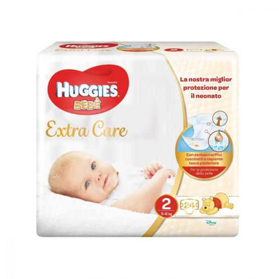HUGGIES BEBÈ EXTRA CARE PANNOLINI TAGLIA 2 (3-6KG) 24PZ