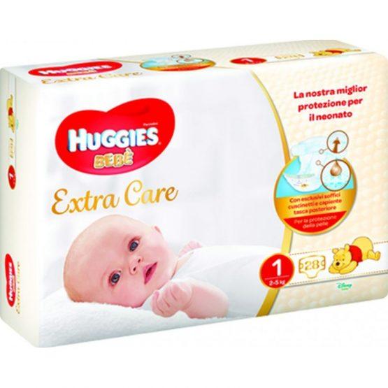 HUGGIES BEBÈ EXTRA CARE PANNOLINI TAGLIA 1 (2-5KG) 28PZ