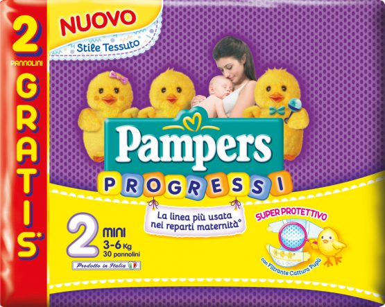 PAMPERS PROGRESSI PANNOLINI TAGLIA 2 (3-6 Kg) 30PZ