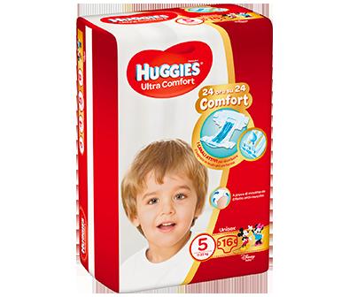 HUGGIES ULTRA COMFORT PANNOLINI TAGLIA 5 (11-25KG) 16PZ