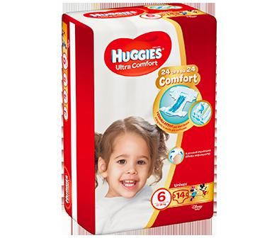 HUGGIES ULTRA COMFORT PANNOLINI TAGLIA 6 (15-30KG) 14PZ