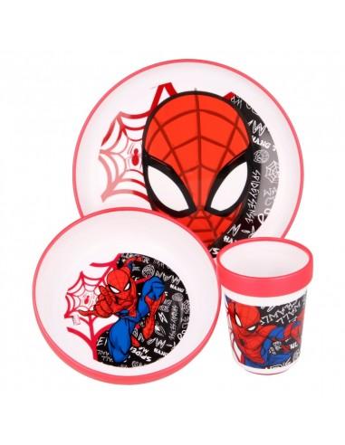 spiderman-urban-web-non-slip-tableware-3-pieces-plate-bowl-tumbler