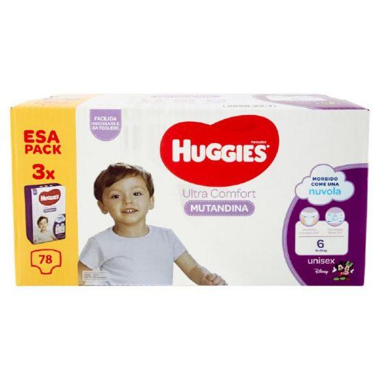 HUGGIES®ULTRA COMFORT MUTANDINA – MEGAPACK